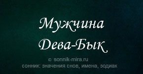 мужчина Дева Бык