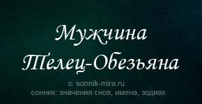 мужчина телец Обезьяна