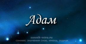 Что значит имя Адам