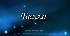 Что значит имя Белла